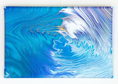 Blauw tree ring schilderij